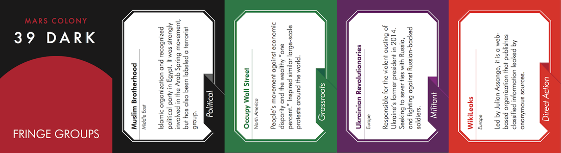 Each card contains a short description of the group's methods and goals.