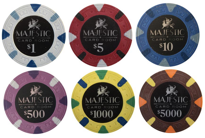 Single colored poker chips blackjack betting guide
